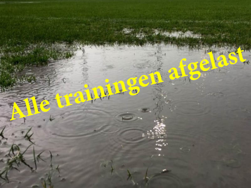 trainingen afgelast